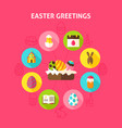 concept easter greetings vector image vector image