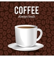 cup coffee with beans graphic vector image