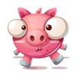 cute pig character - cartoon vector image