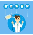 Dental banner with smiling male dentist vector image vector image