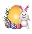 easter rabbit cartoon vector image