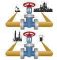 Extraction and processing of petroleum products vector image