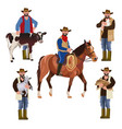 farmers with pets vector image