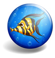 Fish swimming vector image