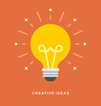 Flat design business concept Creative idea vector image