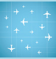 flat style air travel background vector image vector image