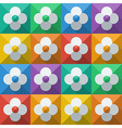 Flowers in flat icon style vector image