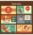food shop cards vector image vector image