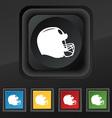 football helmet icon symbol Set of five colorful vector image vector image