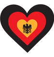 Germany Heart vector image vector image