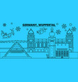 germany wuppertal winter holidays skyline merry vector image vector image
