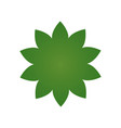 green flower icon pictograph of flower isolated vector image vector image