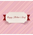 Happy Mothers Day Label with Ribbon vector image