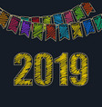 happy new year background 2019 vector image vector image