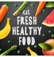Healthy food concept with sample text vector image