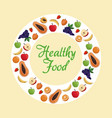 healthy food fruit poster vector image vector image