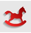 Horse toy sign vector image vector image