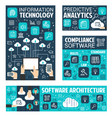 information data technology posters vector image vector image