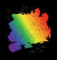 iridescent brush stroke lgbt flag grunge style vector image
