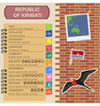 Kiribati infographics statistical data sights vector image vector image