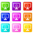 layout of house icons 9 set vector image vector image