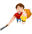 Man and woman with big smile vector image vector image