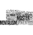 master mentalism review good or bad text vector image vector image