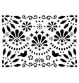 mexican traditional folk art pattern vector image