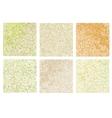 Mustard mosaic set vector image vector image