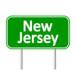 New Jersey green road sign vector image