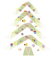new year holiday geometric christmas tree vector image vector image