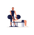 personal sport trainer coach man training vector image vector image