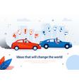 petrol engine car electric automobile comparison vector image vector image