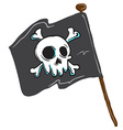 pirate flag vector image vector image