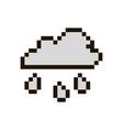 pixel cloud with rain vector image