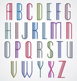 Poster colorful font on white background striped vector image vector image