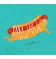 Poster take hot dog with you turquoise