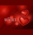red background with 3d heart design vector image vector image