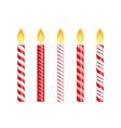 Red Birthday Candles vector image vector image