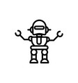 robot innovation technology character linear vector image