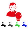 sad boxing sportsman icon vector image
