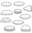 set of cookies and biscuits vector image