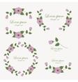 Set of flowers design elements vector image