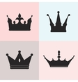 Set of four silhouettes of crowns vector image vector image