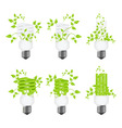 set power saving lamps vector image vector image