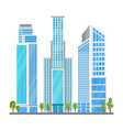skyscraper in modern city vector image vector image
