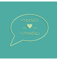 social media tags vector image vector image