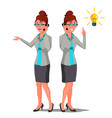 solution concept business woman vector image vector image