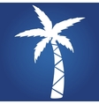 Summer icon on blue background- palm Logo design vector image vector image