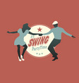 swing party time-02 vector image vector image